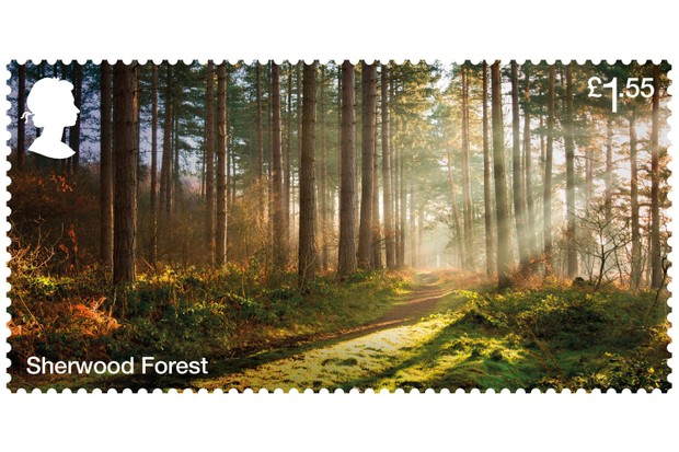 Sherwood Forest Stamp (Image via Forestry Commission)