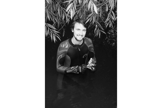 Man in wetsuit