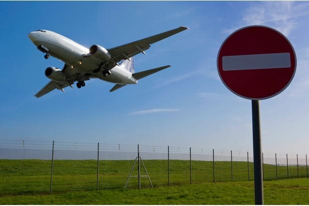 An aeroplane taking off