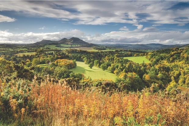 The Eildon Hills in the Scottish Borders