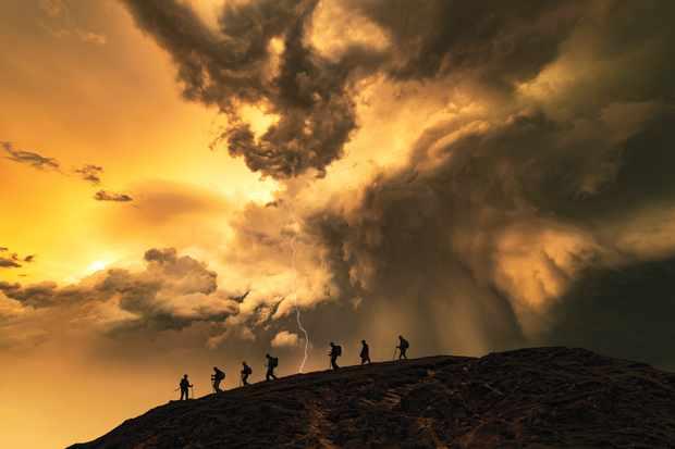 Storm over Cat Bells, Cumbria, Lake District