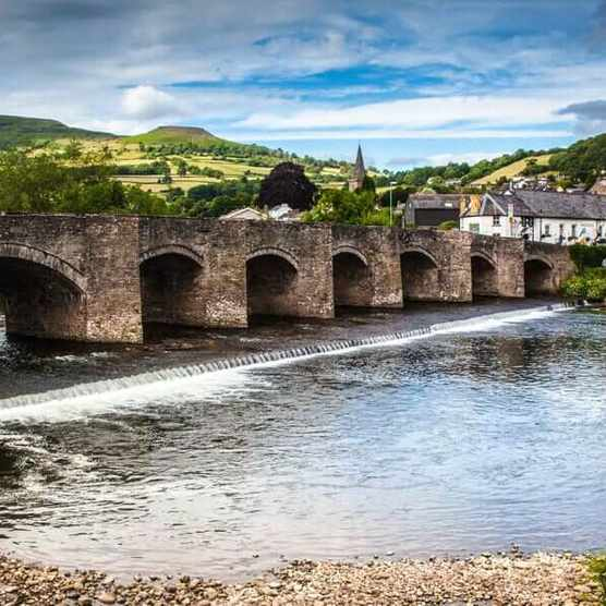 The River Usk at Crickhowell