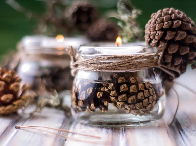 Christmas Crafts How To Make A Jam Jar Candle Countryfile Com