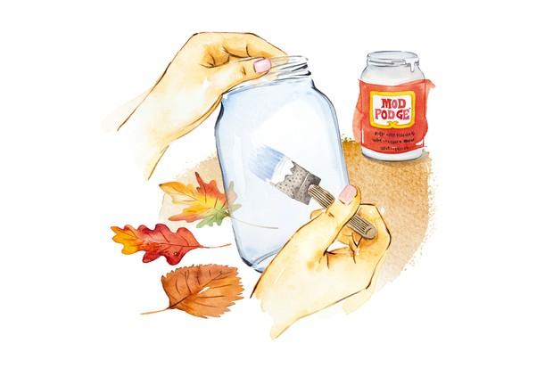Autumn crafts - step 1