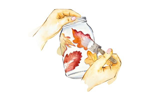 Autumn crafts - step 3