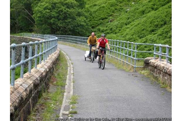 Cyclists on path