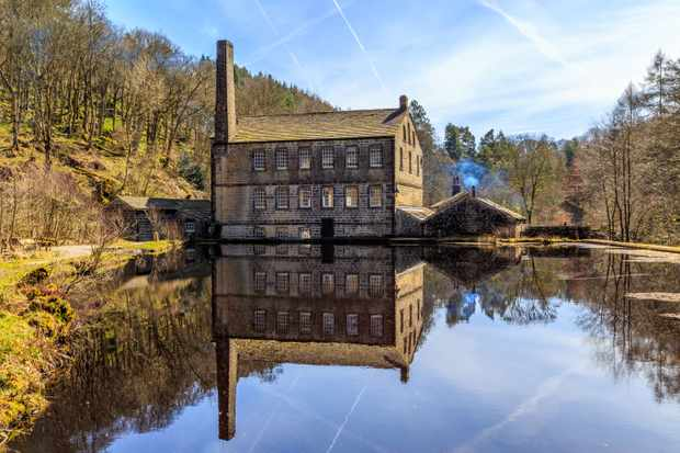 Gibson Mill, beside Hebden Water