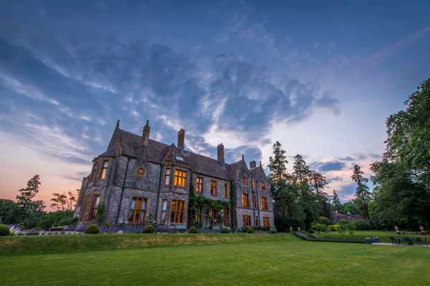 Country manor in the evening light