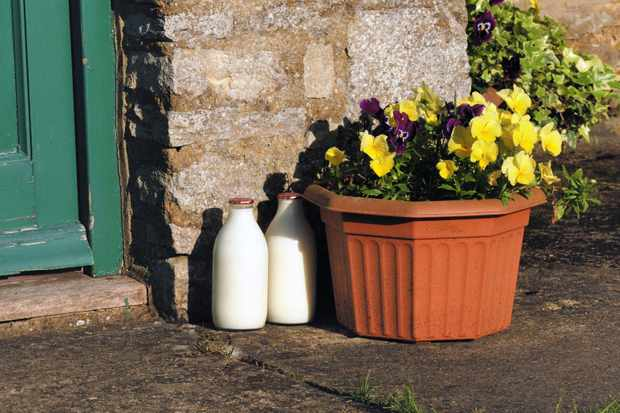 Milk on doorstep