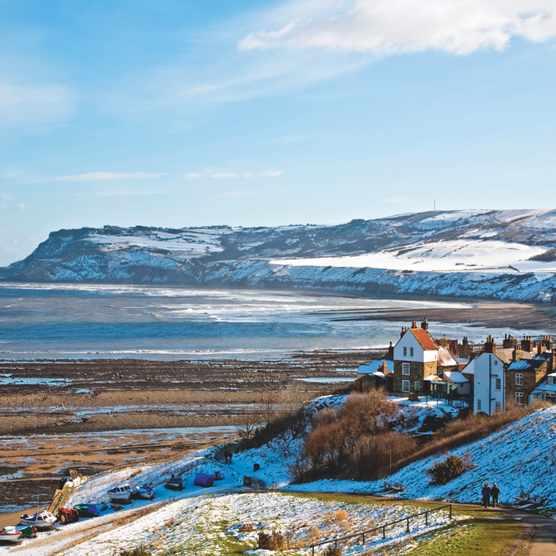 Coastal village in the winter