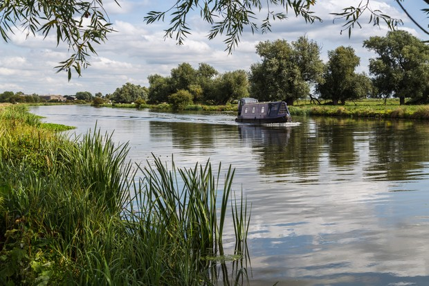 Outskirts of Ely on the River Great Ouse, Cambridgeshire