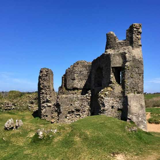 Norman Pennard Castle, Gower Peninsula, Wales