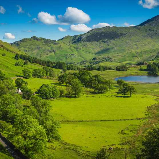 Lake District National Park in spring