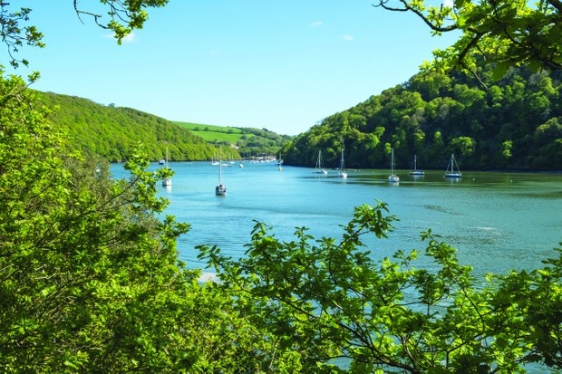 River Dart from Galmpton towards Dartmouth in Devon