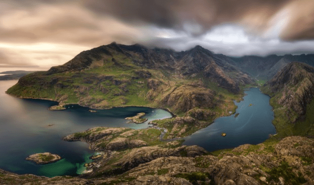 Loch na Cuilce and Loch Coruisk with Black Cuillins in background, Isle of Skye ©Getty