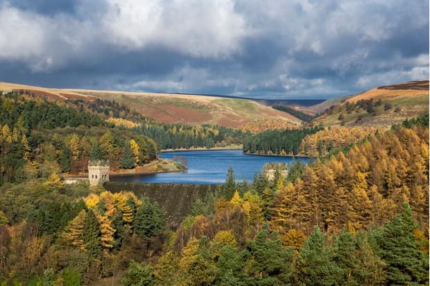 Autumn scenery in the Upper Derwent valley, Derbyshire