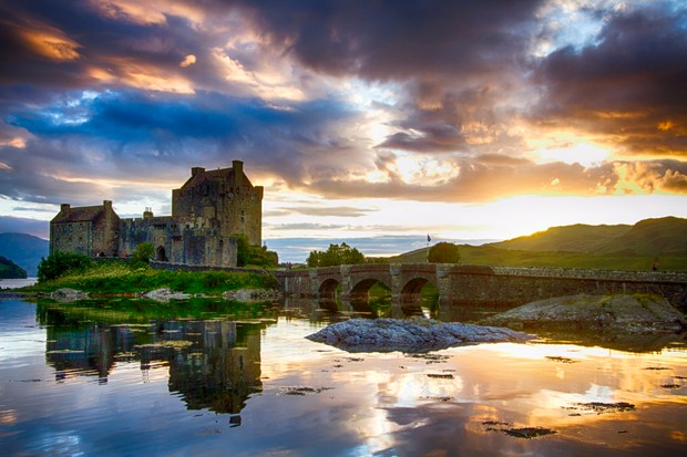 Eilean Donan castle at the end of Loch Long