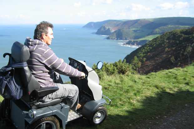 A Tramper being used at National Trust Heddon Valley © Countryside Mobility