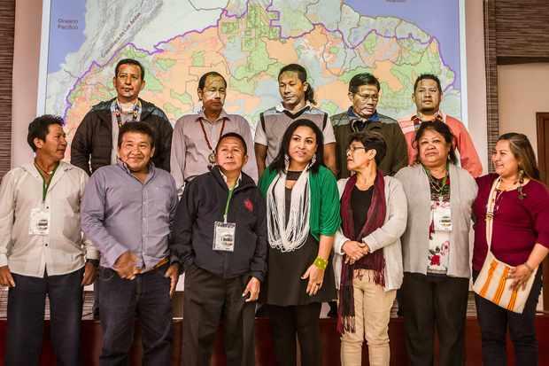 Indigenous leaders summit in Bogotá.© Cesar David Martinez/Avaaz