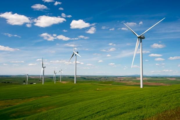 WASHINGTON, UNITED STATES - 2013/06/15: View of the Rosalia Wind Farm near Oaksdale in the Palouse, Washington State, USA. (Photo by Wolfgang Kaehler/LightRocket via Getty Images)