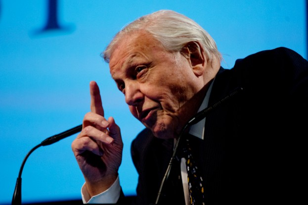 David Attenborough speaking at a World Land Trust event © David Bebber