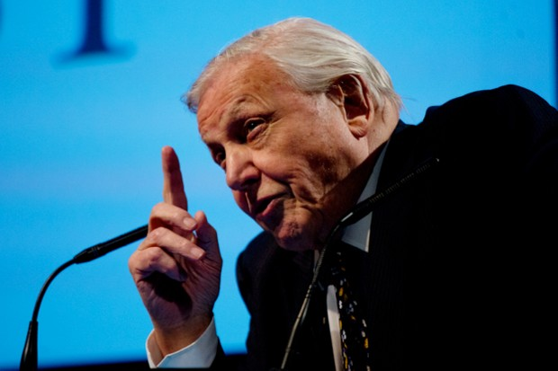 David Attenborough speaking at a World Land Trust event © David Bebber