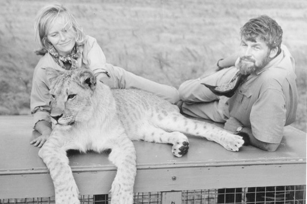 Virginia McKenna and Bill Travers during the making of Born Free © Columbia Pictures