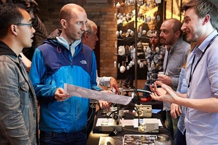 Scientists speak to NHM visitors. © Natural History Museum Trustees