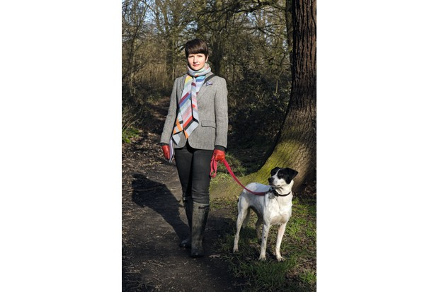 Melissa Harrison and her dog Scout. © Penny Dixie