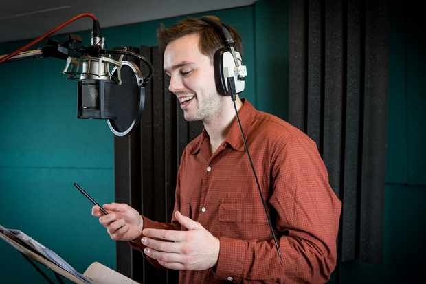 Nicholas Hoult voices Fiver in Watership Down. © BBC/Guy Levy