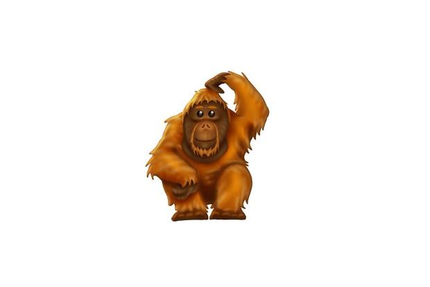 Orangutan emoji. © Unicorde Consortium
