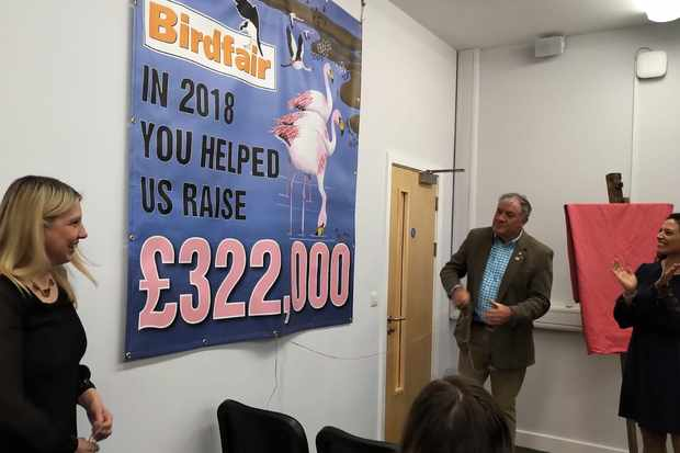 Birdfair revealing the funding total from 2018
