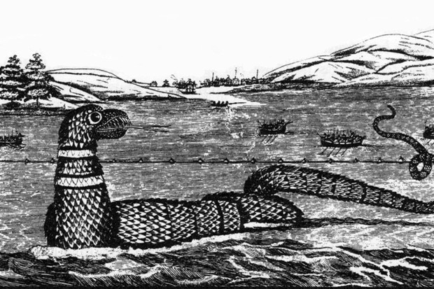 Sea serpent sightings influenced by marine fossils