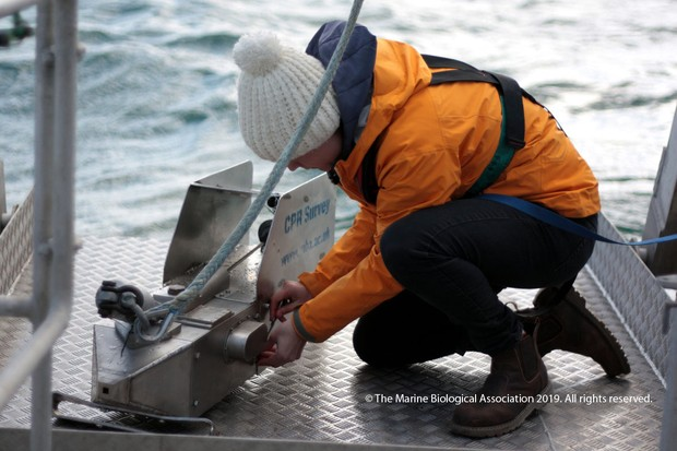 Preparing the CPR. © Marine Biological Association