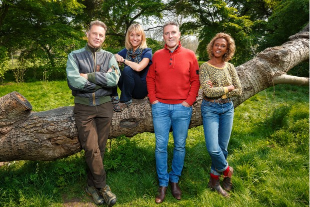 Springwatch presenters: Chris Packham, Michaela Strachan, Iolo Williams and Gillian Burke. © Jo Charlesworth/BBC