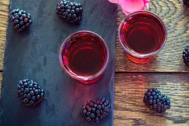 Blackberry vodka. © Elena Kirey/Getty