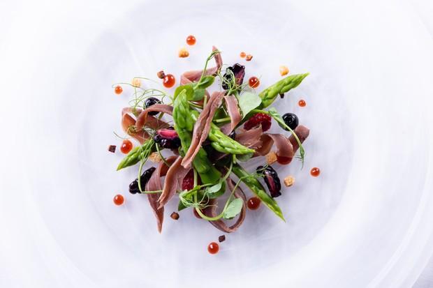 Duck salad at Olivier's restaurant.