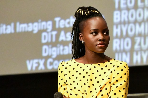 Lupita Nyong'o onstage at MoMA Contenders 2018 Screening and Q&A of Black Panther at Hammer Museum. Rodin Eckenroth/Getty