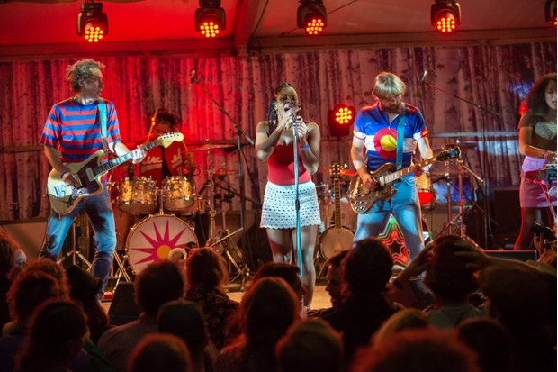 The Go! Team performing at The Good Life Experience.