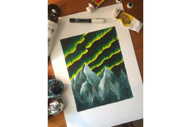 Print of 'Aurora Borealis' by Tiffany Francis.