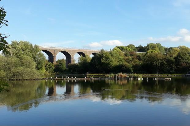 Reddish Vale Viaduct. © Leoma Williams.