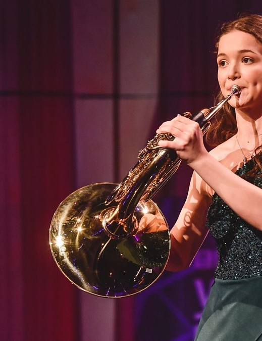 French horn player Annemarie Federle: BBC Young Musician 2020