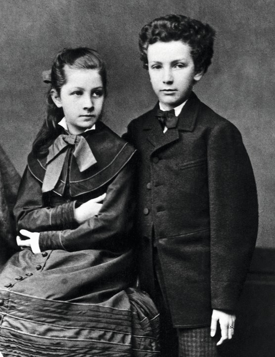 (Original Caption) Richard Strauss (1864-1949), German composer and his sister. Undated photograph.