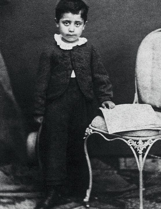 UNSPECIFIED - CIRCA 1865:  Gustav Mahler as a child. Photograph. 1865.  (Photo by Imagno/Getty Images)
