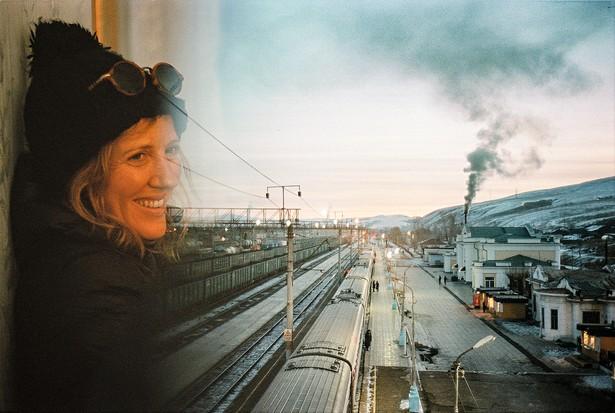 Author Sophy Roberts on the Trans-Siberian Railway (image credit: Michael Turek(