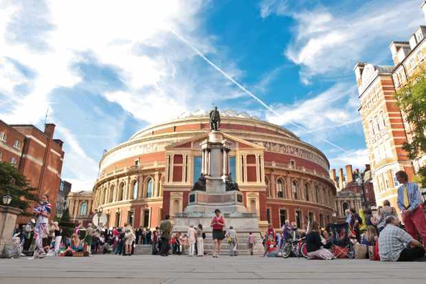 Who designed and built the Royal Albert Hall?