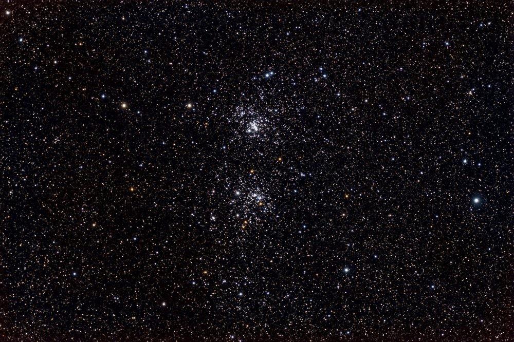 Credit: Genuson - Own work; Caldwell 14 - The Double Cluster taken by /u/ItFrightensMe (https://en.wikipedia.org/wiki/Double_Cluster#/media/File:Double_Cluster.jpg)