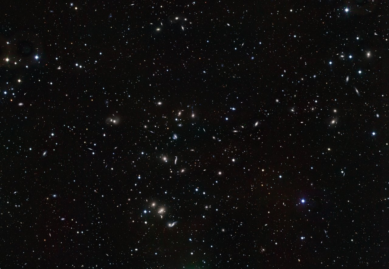 The Hercules Galaxy Cluster as seen by the VLT Survey Telescope.Credit: ESO/INAF-VST/OmegaCAM. Acknowledgement: OmegaCen/Astro-WISE/Kapteyn Institute