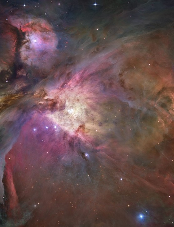 The sharpest view ever taken of the Orion Nebula, 1,500 lightyears away, reveals over 3,000 stars of differing sizes nestling within the vast cavern of rolling dust and gas. Credit: NASA, ESA, M. Robberto ( Space Telescope Science Institute/ESA) and the Hubble Space Telescope Orion Treasury Project Team
