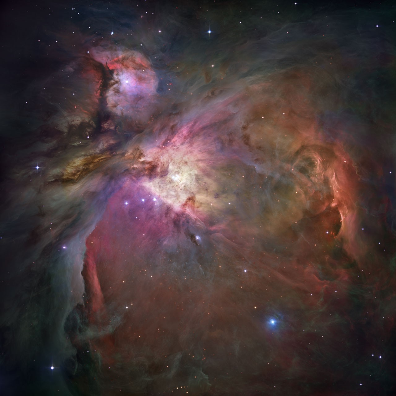 The Orion Nebula, as seen by the Hubble Space Telescope.Credit: NASA, ESA, M. Robberto ( Space Telescope Science Institute/ESA) and the Hubble Space Telescope Orion Treasury Project Team